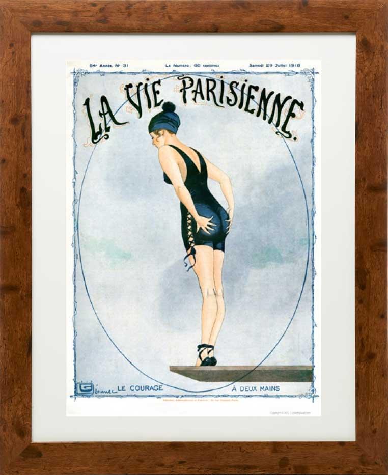 Vintage La Vie Parisienne Print