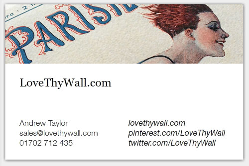 LoveThyWall - business cards