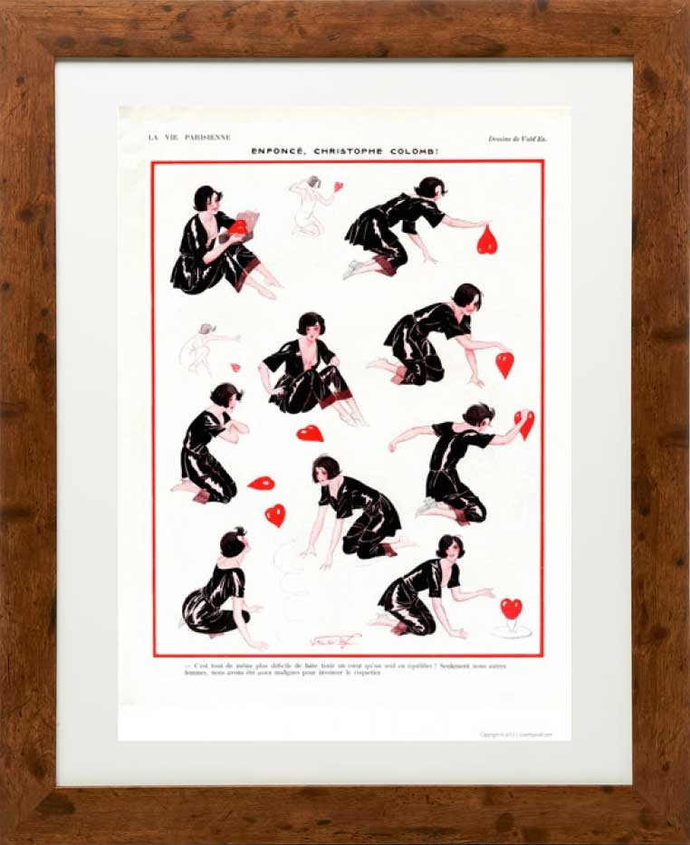 Enforce 1923 - La Vie Parisienne Print by Leonnec