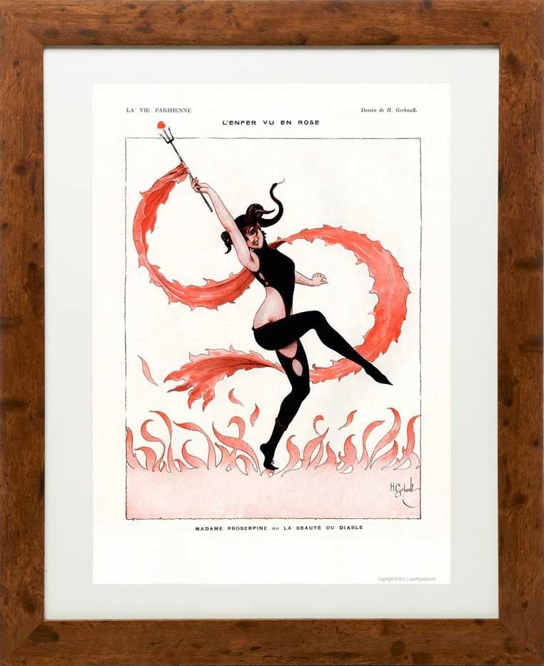 Framed example - La beaute du diable 1917 - La Vie Parisienne Print