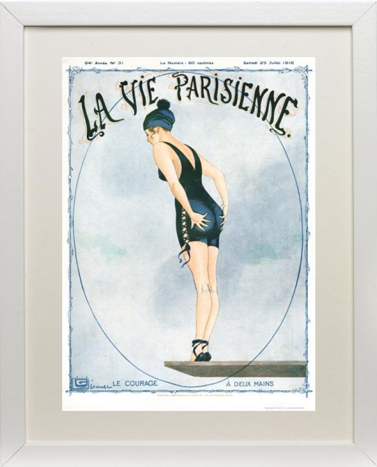 Framed example - Le Courage 1916 - La Vie Parisienne Print
