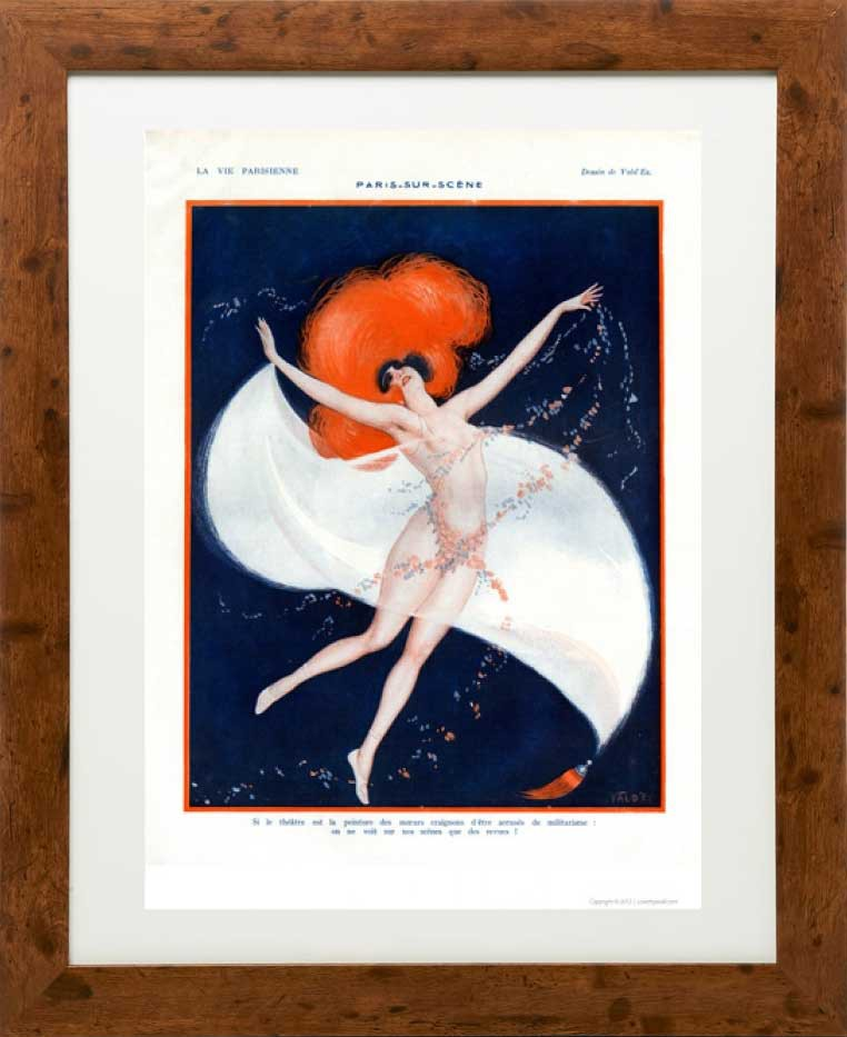 Framed example - Paris sur scene 1922 - La Vie Parisienne Print