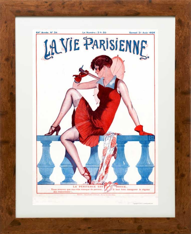 Framed example - Penitence 1926 - La Vie Parisienne Print
