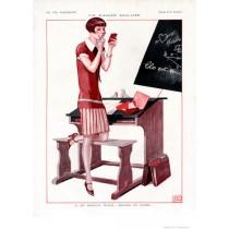 Full design - Scolaire 1926 - La Vie Parisienne Print