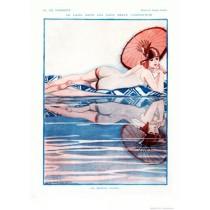 Full design - Le latin dans les eaux 1927 - La Vie Parisienne Print