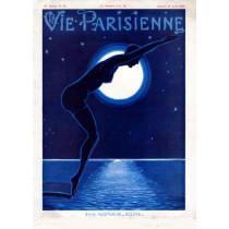 Full design - Bain nocturne Eclipse 1929 - La Vie Parisienne Print