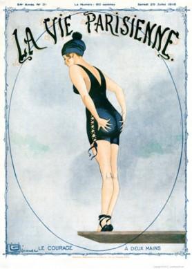 Full design - Le Courage 1916 - La Vie Parisienne Print