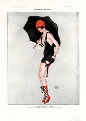 Full design - Gribouillette 1917 - La Vie Parisienne Print