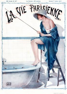 Full design - Martine pecheuse 1917 - La Vie Parisienne Print