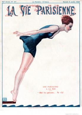 Full design - Une Parisienne a la mer 1926 - La Vie Parisienne Print