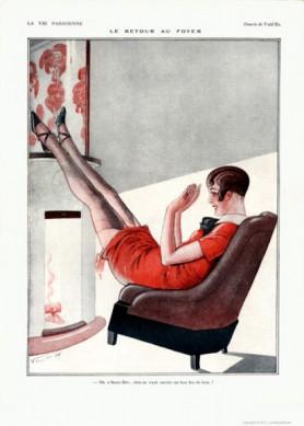 Full design - Le retour au foyer 1926 - La Vie Parisienne   Print