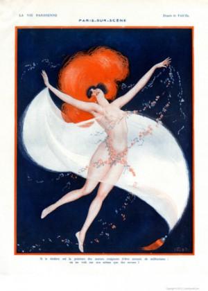 Full design - Paris sur scene 1922 - La Vie Parisienne Print